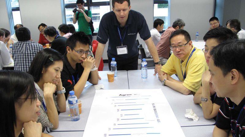 mission vision values team building programme