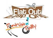 flat out rickshaw rally logo